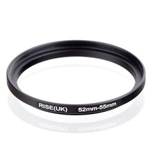 original RISE(UK) 52mm 55mm 52 55mm 52 to 55 Step Up Ring Filter Adapter black