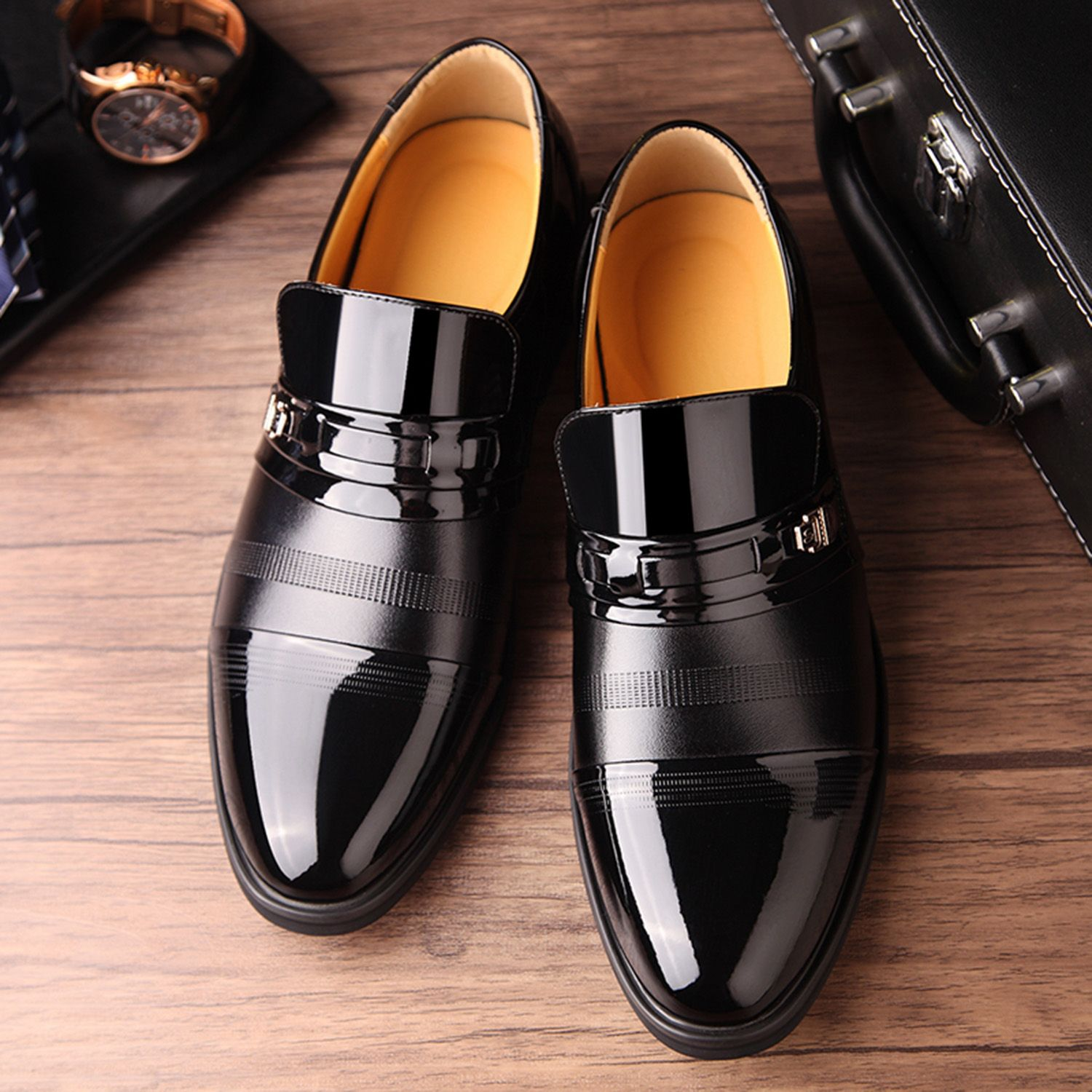 ABDB-Dress Shoes Oxford Shoes Lace Up Loafer Comfortable Classic Formal Fashion Modern Formal Business Shoes