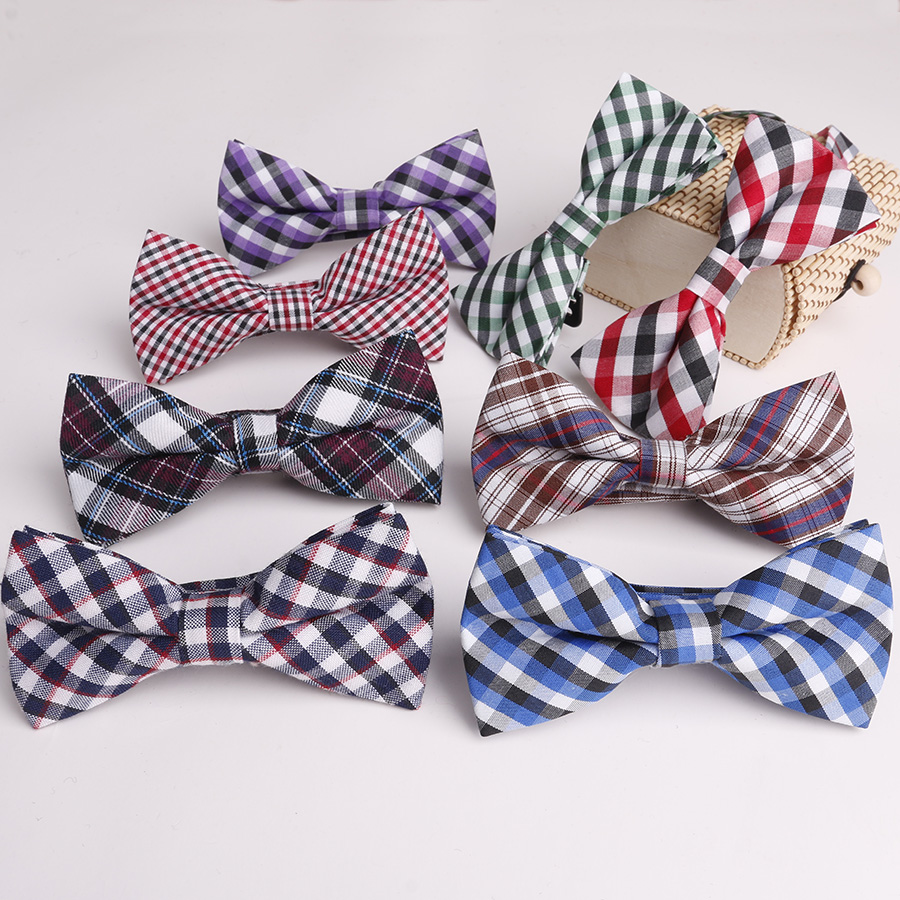 Mantieqingway-Cotton-Bowties-For-Children-Suits-Plaid-Printed-Bow-Ties-Banquet-Kids-Collar-Skinny-Tie-Boys