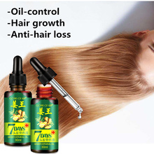 7 Days Hair Care Essential Oil Ginger Germinal Anti-hair Loss Scalp Treatment Moroccan Pure Argan 30ml