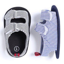 2017 New Summer Newborn Infant Baby Sneakers Boys Girls Soft Sole prewalker Stripe Shoes