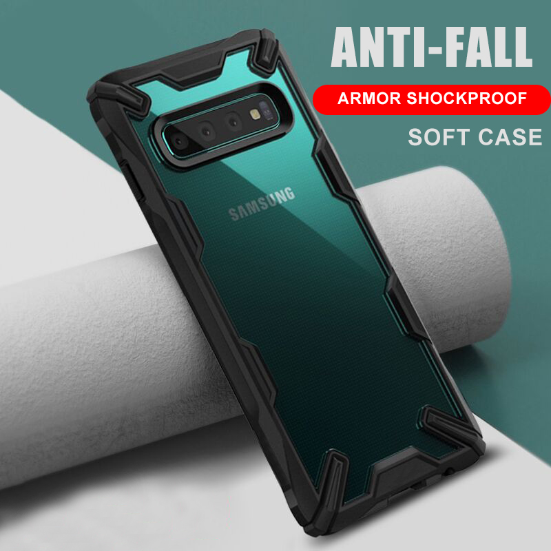 Luxury Anti-Fall Armor Case On The For Samsung Galaxy S9 S10 Plus S10e Shockproof Case Cover Note 9 Soft Silicone Bumper Case