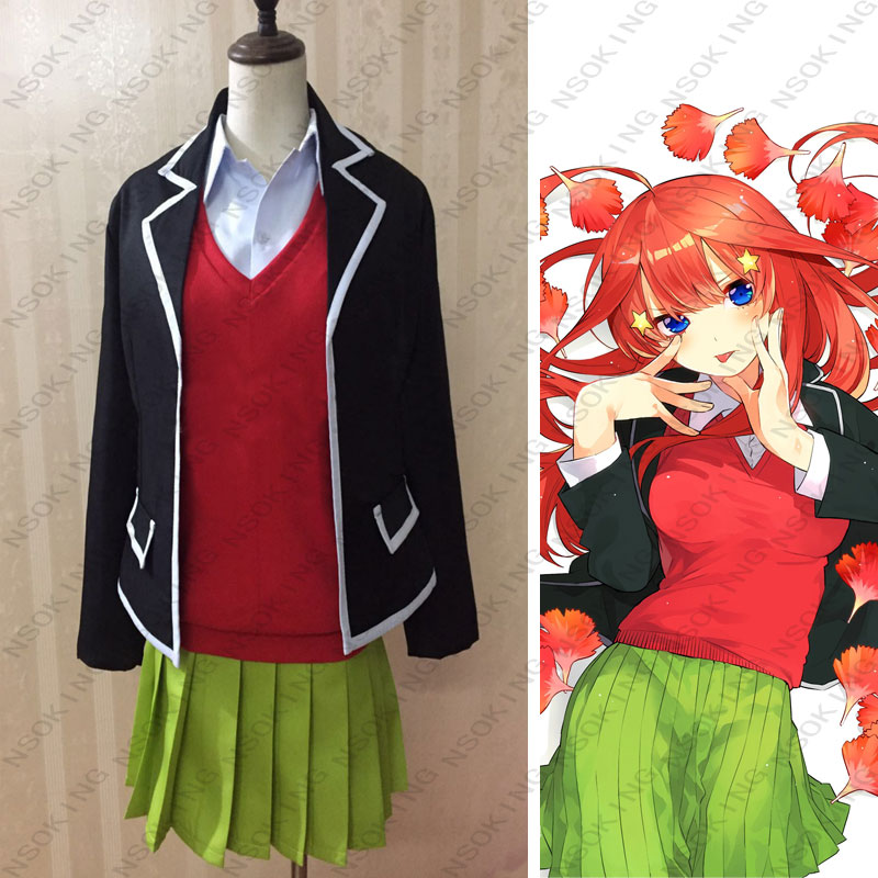 Anime Gotoubun no Hanayome The Quintessential Quintuplets Nakano Itsuki Cosplay Costume Custom Made-in Anime Costumes from Novelty & Special Use    1
