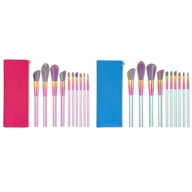 Makeup Brushes With Bag 10pcs Professional Make Up Tools Kit Foundation Powder Eyebrow Lip Brush Holder Set For Cosmetic Tool singfire sf 70b 600lm 5 mode white zooming flashlight w cree xm l t6 black 1 x 18650