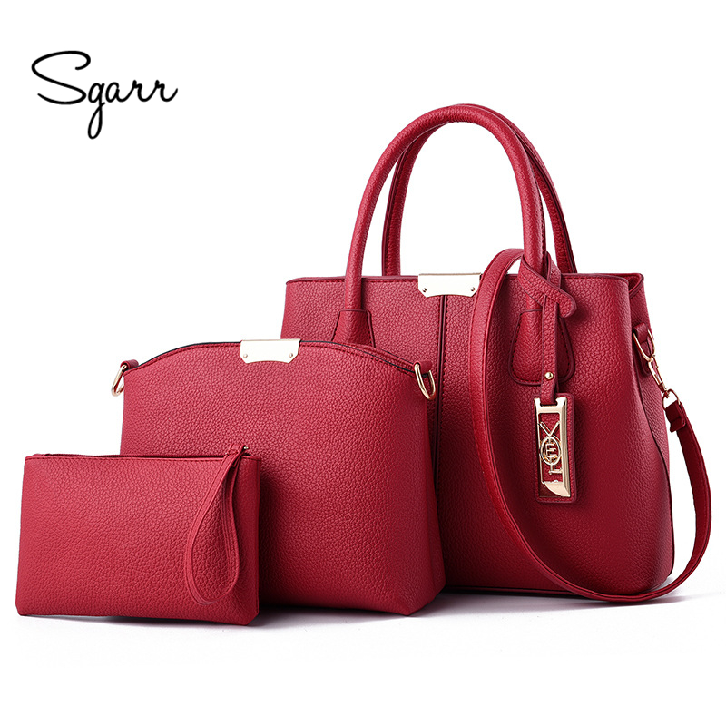 SGARR High Quality Women PU Leather Handbags New Fashion Ladies Shoulder Bag For Women Crossbody Bag Large Capacity Tote Bags herald fashion 2017 large capacity women shoulder bag high quality leather handbags for women brand ladies tote bag pu pouch