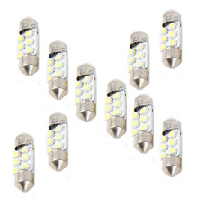 Led Lights For Auto 10x 31mm White 6SMD Car LED Light Bulbs Interior Festoon Dome Map Lamp Auto LED Lamps For Cars