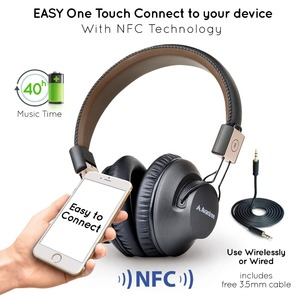 Image 4 - Avantree Audition Pro 40 H Bluetooth Over Ear Headset with Microphone for Home Office, Conference Call, APTX Low Latency