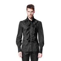 Gothic Gothic Punk Mężczyzn Koszula Z Długimi Rękawami Ruffles Człowiek koszula Plus Rozmiar 4XL Mężczyzna Dorywczo Bluzki Z Pojedyncze Piersi Y-597