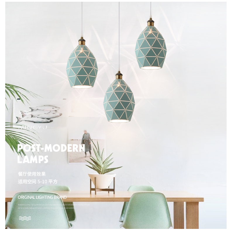 Longree Green Brief Nordic Style Alloy E27 Pendant lights Modern Light LED Cord Lamp Cafe Restaurant Living Room Bedroom chinese style classical wooden sheepskin pendant light living room lights bedroom lamp restaurant lamp restaurant lights