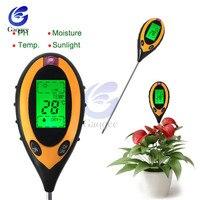 4 в 1 измеритель кислотности почвы тест er анализатор почвы PH Измеритель влажности температура интенсивность солнечного света анализ измере...