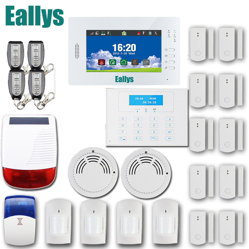Hot Selling 7 Inch Large Touch Screen 868MHz Wireless GSM Alarm System Security Home Alarma Casa, Android/IOS APP Control gs x1 2 7 screen app control 4 channel wireless gsm home alarm system white black us plug