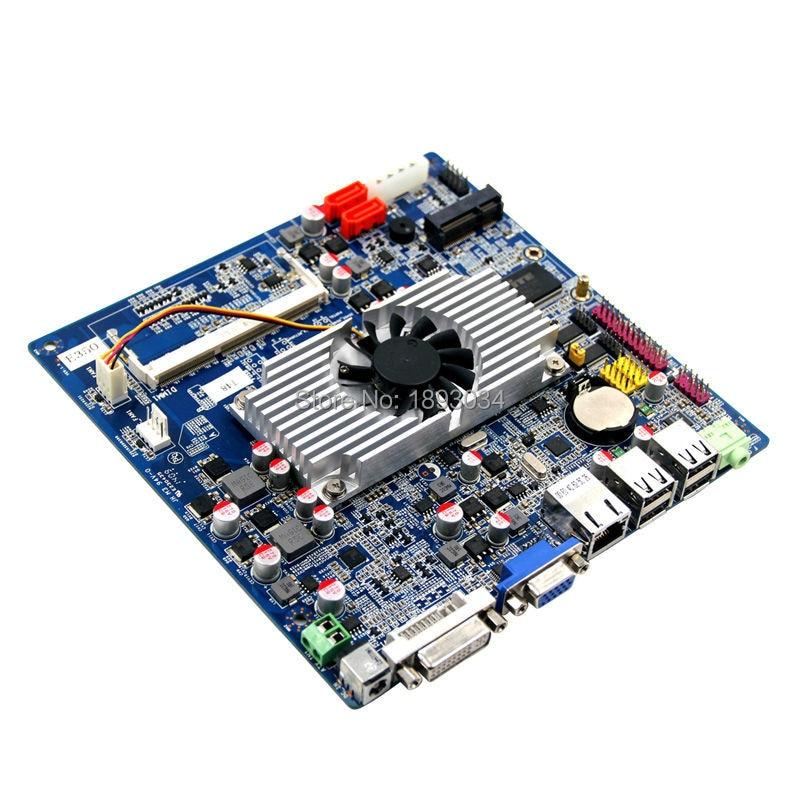 MINI ITX AMD Motherboard with RTl8111E and DVI VGA m945m2 945gm 479 motherboard 4com serial board cm1 2 g mini itx industrial motherboard 100