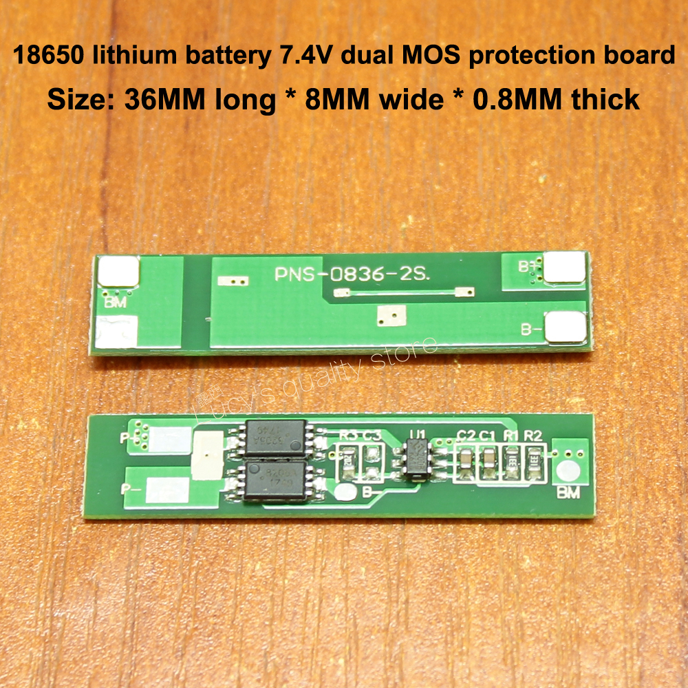 1pcs 18650 Battery Panel 7.4V Battery Protection Board 2S 18650 Lithium Battery Module Dual MOS Protection Board High Quality