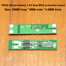 1pcs 18650 battery panel 7.4V protection board 2S lithium module dual MOS high quality