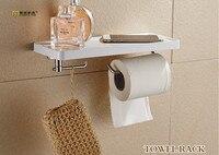 1 PZ Longming Casa S/Acciaio Inox bagno carta supporto del telefono con mensola del bagno Mobile telefoni porta carta portasciugamani KF 2008