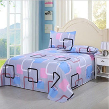 Bed Sheet + 2PCS Pillow Case New Floral Bed Sheet +Flat Sheet 100% Cotton or Children Adults Bedding Mattress Protector Cover