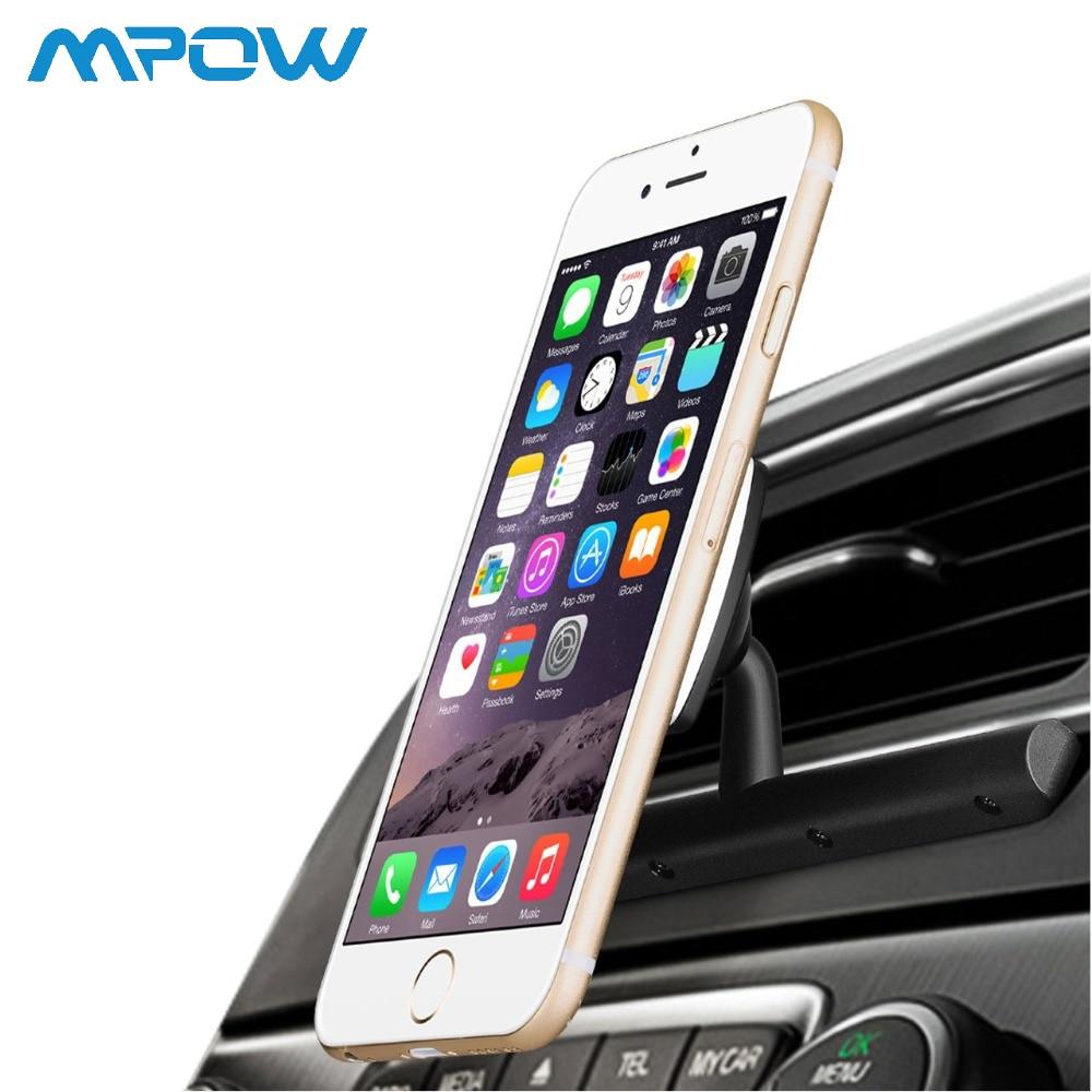 Mpow MCM9B Magnetic Car Mount Holder CD Slot Car Phone Holder With 360 Degree Swivel Phone Holder For GPS Universal Smartphone