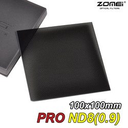 New Zomei Pro Optical Glass ND8 ND0.9(8x) 100x100mm 3 Stop Neutral Density Square filter for Canon Nikon Sony Lens 100mm*100mm
