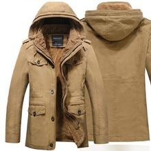 autumn/winter jacket men slim casual hooded plus velvet thick warm coat winter jackets and coats mens parka plus size M-6XL