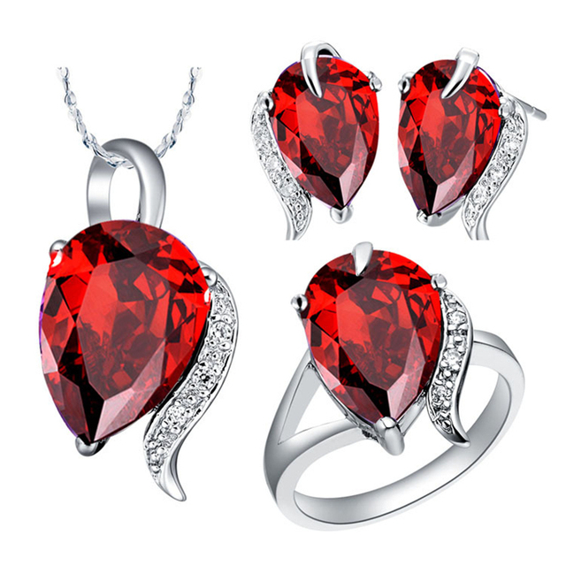 Fine Costume Jewellery Austrian Crystal Blue Red Jewelry Sets