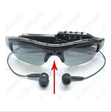Nueva Moda gafas de Sol de Vídeo HD Mini DVR Grabador de Video Audio Cámara Digital MP3 Reproductor de Música gafas de sol