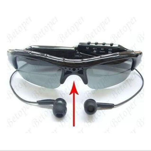 Nova Moda Óculos De Sol De Vídeo HD Mini DVR Gravador De Áudio e Vídeo Da Câmera Digital MP3 Player de Música óculos de sol