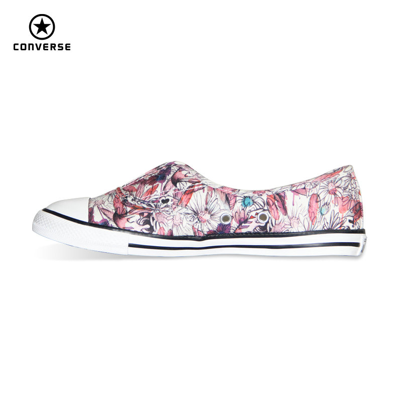 цены Original Converse All Star women sneakers Flower color light Popular summer canvas Skateboarding Shoes 552923C