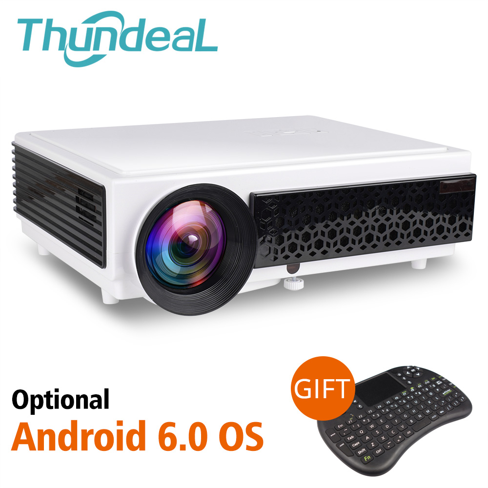 лучшая цена ThundeaL LED 96+ Projector Android 6.0 WiFi Optional Proyector Support Full HD 1080P 3D Home Theater Cinema LED96+ Video Beamer