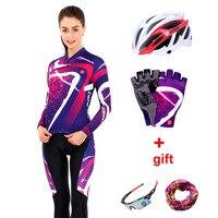 2019 プロチームサイクリングジャージーセット男性夏長袖女性自転車服 Mtb バイク服のフィットネススポーツウェアサイクルドレス