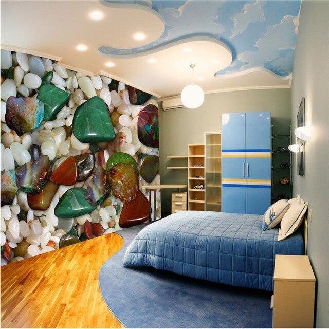 naturliche interieur mit stein haus design bilder, beibehang moderne aufkleber 3d boden malerei badezimmer wand hd, Design ideen