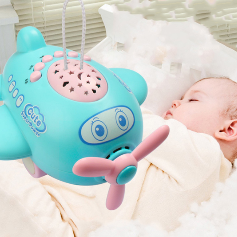 Baby Music Projector Sleeping Story Projector Light Night Lamp Aircraft Appease Plane Toy Multifunction Projectors