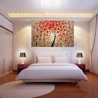 무료 배송 팔레트 나이프 그림 유화 꽃 작품 벽 예술 손으로 만든 그림 현대 질감 홈 장식