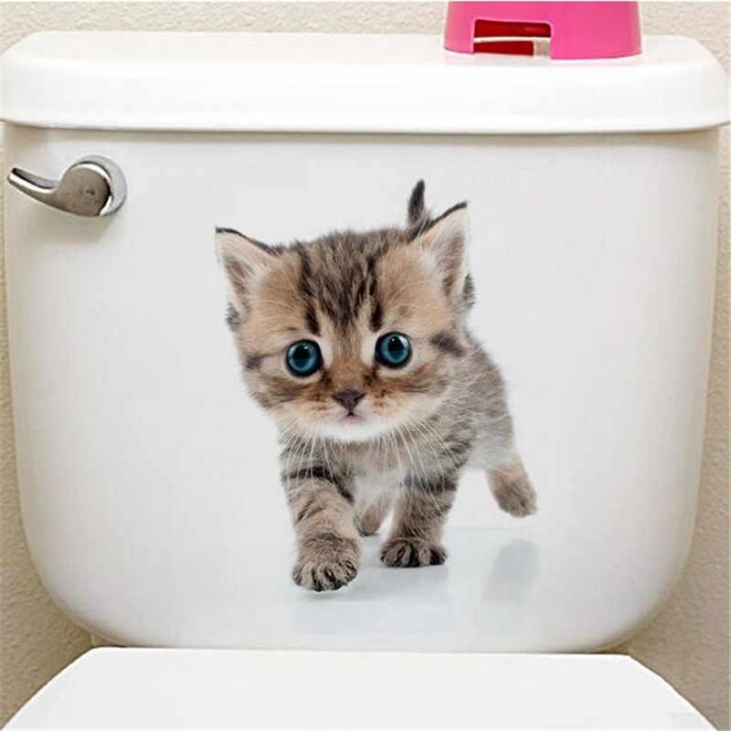 1 CÁI Dễ Thương 3D Mèo Con Vệ Sinh Miếng Dán Mèo Trên Tường Nhà Bếp Tủ Lạnh Miếng Dán Cho Phòng Khách Phòng Ngủ Trang Trí Nhà 25*25 cm