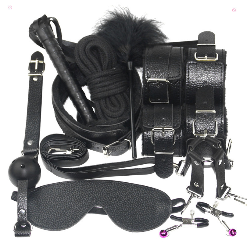 Sexy Lingerie Women Whip bdsm Sex Collar Set Toys Spank Whip Sex Wives Handboeien Handcuffs Mask rope Erotic toys sex products