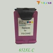 1Pcs for HP 652xl Color Ink Cartridge for HP 652 xl Deskjet 1115 1118 2135 2138 3635 3636 3638 Printer