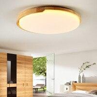 אורות תקרת מנורה מעץ מלא אישיות יצירתית נורדי יומן ultra דק עגול הוביל אור בחדר השינה חדר ספר LU821389