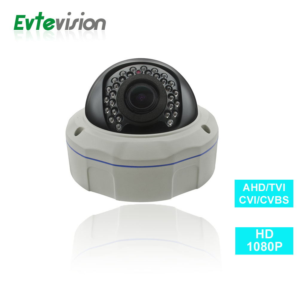 Evtevision 1080P Security Camera 1/2.7'' AR0237 4 in 1 AHD/TVI/CVI/CVBS Vandal proof IR dome Camera 2.8-12mm Vari focal Lens aokwe 1080p 2mp ahd camera megapixels 3 6mm lens vandal proof ir dome ahd camera cctv security camera