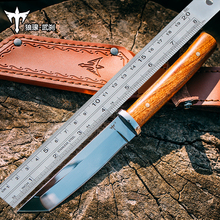 Voltron outdoor survival knife, high hardness straight knife, wild wild self defense knife, portable sharp jungle survival knife