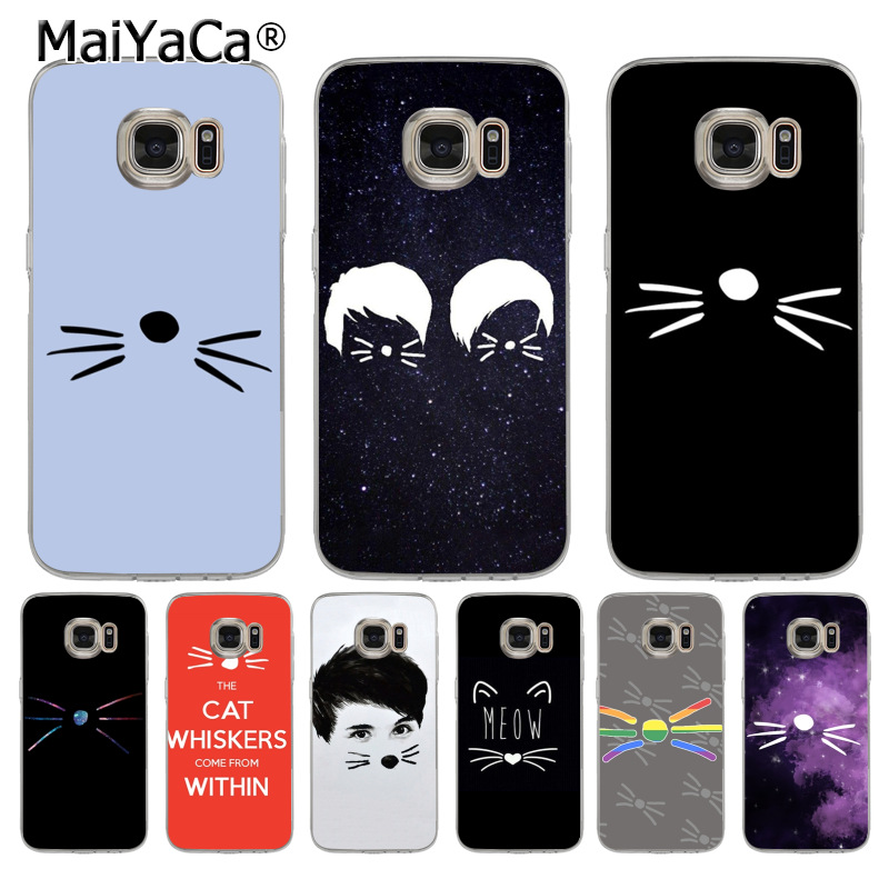 Us 0 94 27 Off Maiyaca Dan And Phil Cat Whiskers Phone Back Phone Accessories Case For Samsung Galaxy S7 S6 Edge Plus S5 S9 S8 Plus Case In