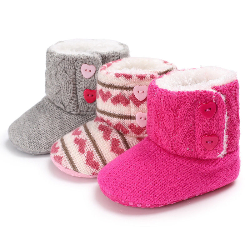 Newborn Winter Warm Boots Baby Kids Girls Boys Snow Shoes Cute Little Children Soft Sole Prewalker Crib Plush Boots For Baby