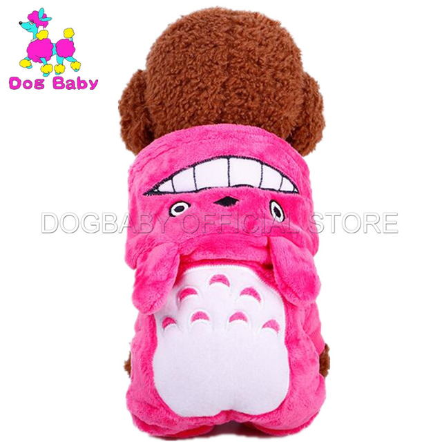 DOGBABY Fleece Dogs Coats Warm Autumn Winter Cats Clothes Four Legs Cartoon Animal Pattern Clothing For Dogs Soft Ropa De Perros