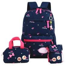 children school bags 3pcs/set School orthopedic schoolbags Backpacks for kids School bags for girls mochilas escolares infantis backpack for girls 3 pieces school bags mochilas escolares infantis backpacks for adolescent girl butterfly children s backpacks