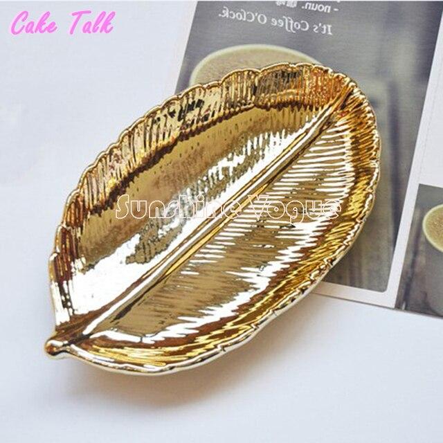 Сусального золота лоток торт пластина винтажном стиле керамические украшения дисплей блюдо 3.5 дюйм(ов) формы для выпечки конфеты бар украшения кекс чайный поднос