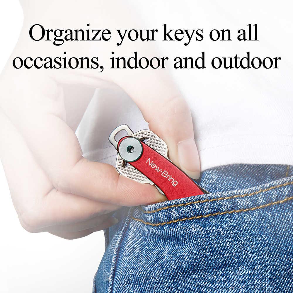 Newbring Автомобильный держатель для ключей цепи Smart Ключницы кольца коллектора ключница оксид Алюминий DIY EDC карман ключ Организатор smart