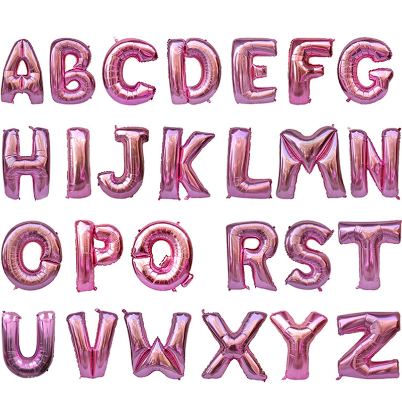 40 inch Pink Letter A-Z Aluminum Foil Balloons Birthday Party Wedding Decorations Scene Layout Holiday Supplies Balloons