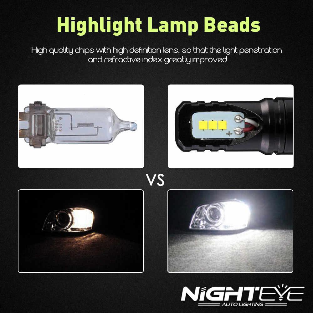 NIGHTEYE H1 H7 H11 LED Fog Lamp Bulbs 9005 9006 CSP Chips 8W 1600LM Car Led Auto Driving Bulb Lamp Fog Light for 6500K white 12V