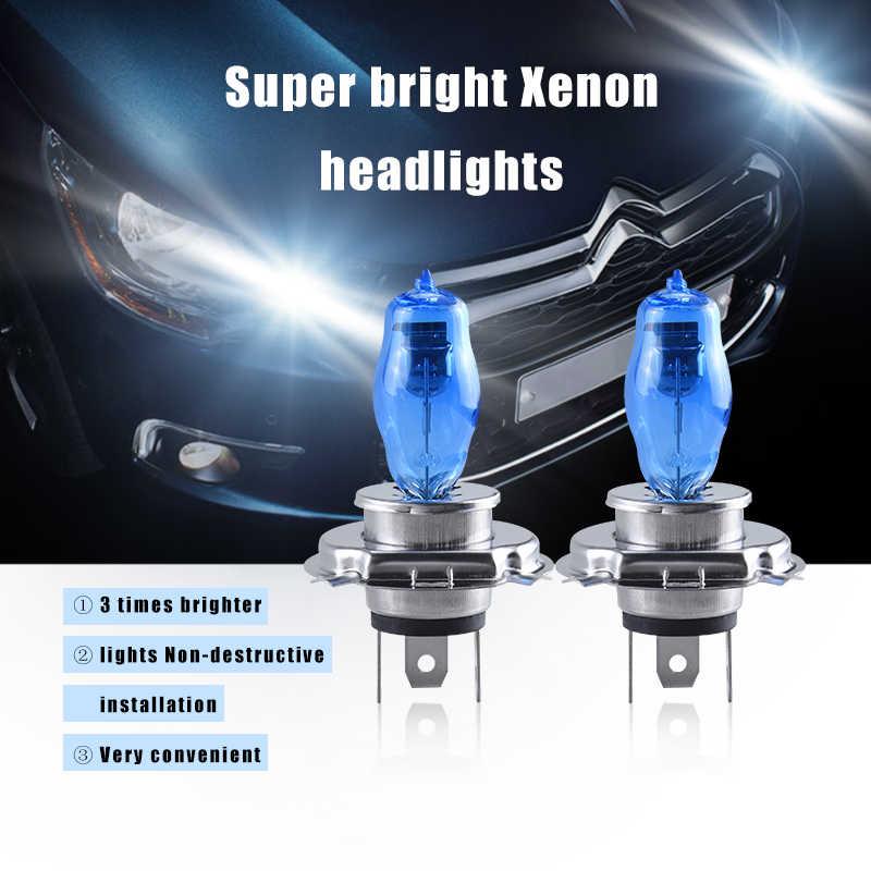 Atcomm 2 Pcs H3 H7 Otomatis Halogen Lampu 6000K Putih 12V H1 H4 H8 H9 H11 9005 HB3 9006 HB4 Bohlam Halogen Mobil Ampul Voiture