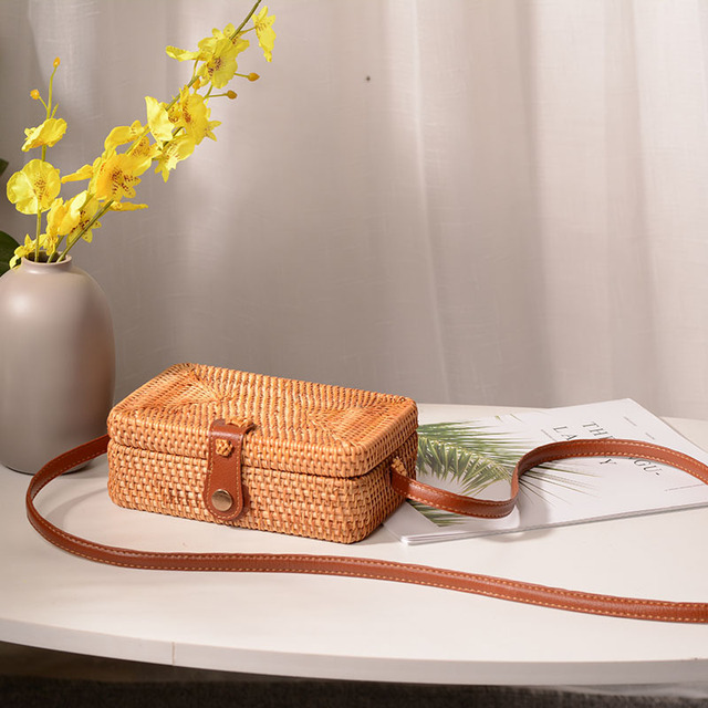 Woven Rattan Cross-body Bag