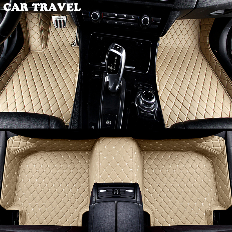 купить car floor mats for Peugeot All Model 3008 206 307 207 2008 408 308 508 301 4008 RCZ 301 car styling accessorie Custom foot Pads онлайн
