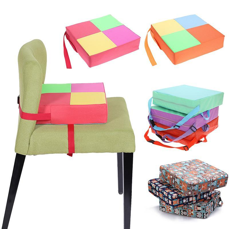 4 Styles Modern Removable Soft Linen Cushion Baby Increased Thick Mat Table Adjustable Removable Chair Pad Cushion Sofa Pillow